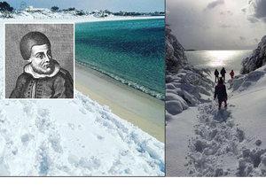Slunnou italskou oblast Salento zasypal sníh. Prý to znamená konec světa.