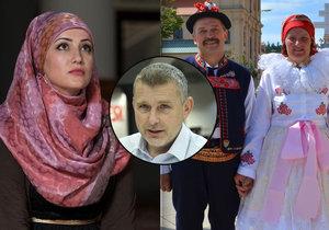 Muslimky by nemusely provokovat explicitně orientálním oblečením. Stejně by jim posloužil i tradiční lidový kroj, míní Petr Pelikán.