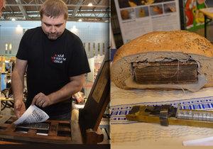 V Brně se tiskne středověká Bible: K vidění je i kniha tajně zapečená v chlebu