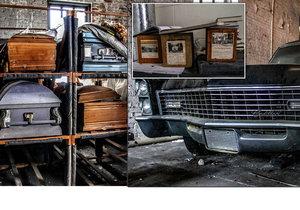 Opuštěný pohřební ústav v Jacksonville na Floridě.