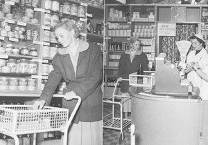 První samoobsluha v ČSSR se otevřela v Praze na Žižkově roku 1955.