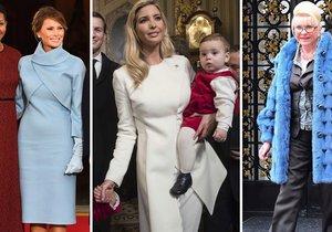 Přehlídka módy, ale i nevkusu. Které z Trumpových žen to nevyšlo