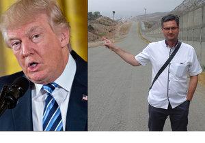 Poslanec Ondřej Benešík se byl podívat na hranicích USA a Mexika, kde chce Donald Trump postavit zeď proti migrantům.