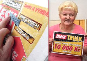 Poprvé vyhrála s Trhákem: Bohuslava z Libiny dá 10 tisíc za léky a lázně