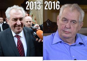 Čtyři roky od zvolení Zemana: Důvěřuje mu 56 % občanů, bude kandidovat znovu?