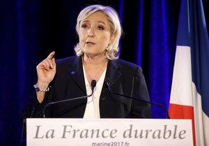 Kandidátka radikální pravice Marine Le Penová