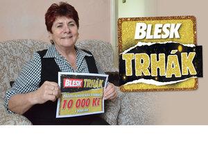 Bývalá železničářka Věra Pavelková je čtenářkou Blesku téměř 25 let. Díky superhře Trhák vyhrála rovných 10 000 Kč!