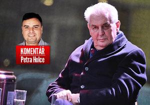 Prezident Miloš Zeman v komentáři Petra Holce
