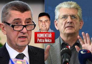 Šéf hnutí ANO Andrej Babiš a nepohodlný olomoucký hejtman Oto Košta v komentáři Petra Holce