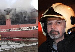 Hasič Jan Odermatt zemřel po zásahu u požáru ve Zvoli.