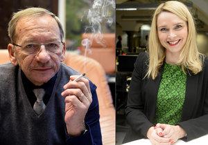 Náměstkyně ministra Lenka Teska Arnoštová si přeje, aby poslední cigaretu slavnostně típl senátor Jaroslav Kubera. Ten s tím souhlasí