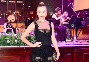 Monika Bagárová na Česko-Slovenském plese
