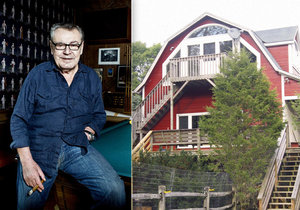 Miloš Forman si na rozsáhlé pozemky a luxusní ranč vydělal filmem Přelet nad kukaččím hnízdem.