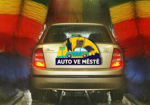 Zimní doprava po městě dává autu zabrat, mytí vozů má i v této době význam.