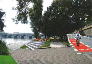 Víme první: Takhle bude vypadat levý břeh náplavky. Vyřeší i problémy s bezdomovci