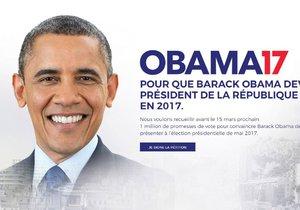 Nespokojení Francouzi chtějí za prezidenta Obamu. Má prý nejlepší životopis