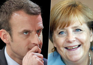 Kandidát na prezidenta Francie Macron se sejde s Merkelovou.