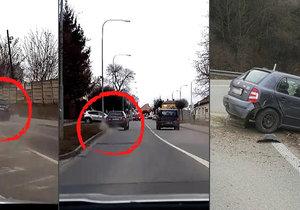 Recidivista ujížděl policie v kradeném autě v protisměru.