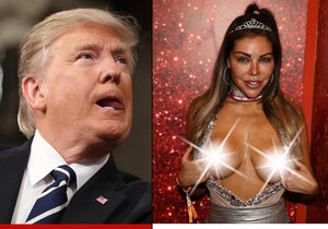 Modelka Liziane Gutiérrez si bradavky ozdobila Donaldem Trumpem.