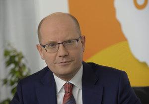 Bohuslav Sobotka (ČSSD) při rozhovoru pro Blesk