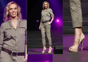 Hana Mašlíková Reinders se pochlubila těhotenským bříškem na módní přehlídce.