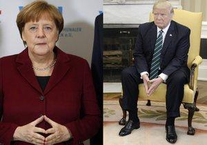 Americký prezident Donald Trump přivítá německou kancléřku Angelu Merkelovou.