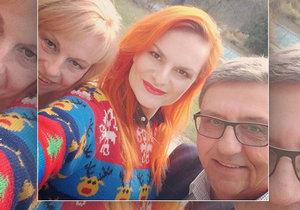 Iva Pazderková se pochlubila fotkou svých rodičů.