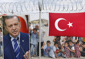 Turecko hrozí, že do EU začne posílat 15 000 uprchlíků každý měsíc