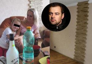 Byt Petra a Moniky Kramných je nyní na prodej za 450 tisíc korun. Je zcela bez vybavení, zůstaly jen police a okrasné obložení na zdi v obývacím pokoji.