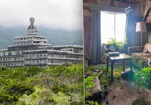 Opuštěný hotel na japonském ostrově Hačidžódžima