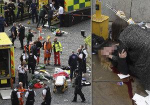 Útok v Londýně: Muž najel autem do lidí. Nejméně 3 zabil, pak ubodal policistu