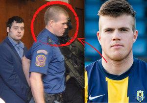 Kevina Dahlgrena do soudní síně přivedl prvoligový fotbalový útočník Petr Nekuda
