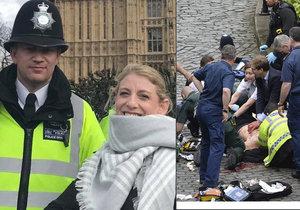 Poslední foto statečného policisty: Zapózoval s americkou turistkou a 45 minut na to zemřel.