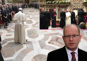Premiér Sobotka se setkal s papežem Františkem