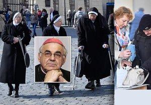 ONLINE: Lidé se loučí s kardinálem Vlkem. Sjíždí se duchovní z celého světa