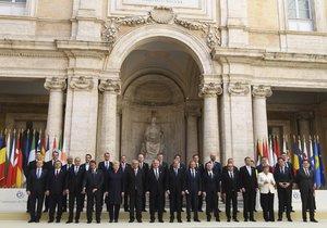 Lídři 27 zemí EU se v Římě přihlásili ke společné budoucnosti.