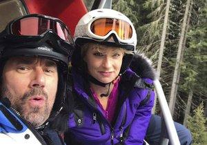 Emanuele Ridi a Lucie Hunčárová na dovolené