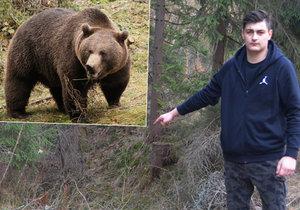 Student z Hrčavy zažil okamžiky hrůzy: Tady na mě medvěd cenil zuby