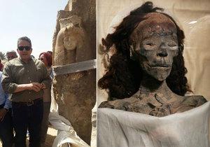 Archeologové objevili unikátní sochu Tutanchamonovy babičky.