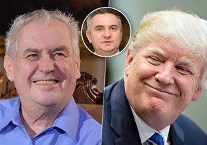 Miloš Zeman zatím nemá u Donalda Trumpa potvrzený termín návštěvy, prozradil kancléř Mynář.