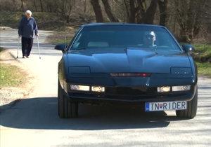 Ivan Hostačný ze Slovenska sestavil auto Kitt z Knight Ridera.