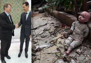 Syrský prezident Bašár Asad má podle kritiků na svědomí brutální smrt statisíců obyvatel. Europoslanec Jaromír Kohlíček tvrdí, že je to slušný a jemný člověk.