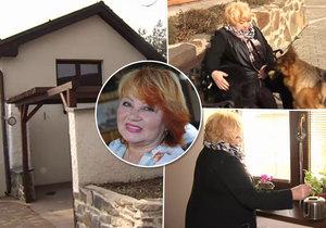 Věra Špinarová pár dní před smrtí ukázala svoje bydlení.