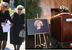 Poslední rozloučení s Věrou Špinarovou: Matka i vnučka to zvládly skvěle.