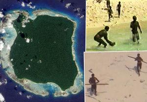 Domorodý kmen na ostrově Severní Sentinel.