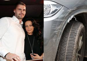 Lucii Bílé někdo nabořil BMW.