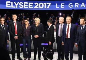 Televizní debata prezidenských kandidátů ve Francii