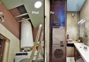 Jak dopadla proměna malinké koupelny?