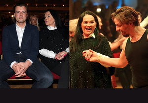 Gregorová si užívala tanec se stepařským mistrem Tomášem Slavíčkem.