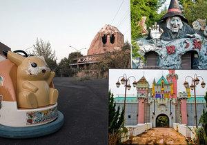 Opuštěný zábavní park Nara Dreamland v Japonsku